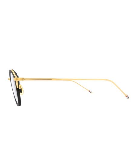 Thom Browne Eye Wear(トム・ブラウン・アイウェア)のRound Clear Lens-BLACK(アイウェア/eyewear)-TB-110-A-13 詳細画像2