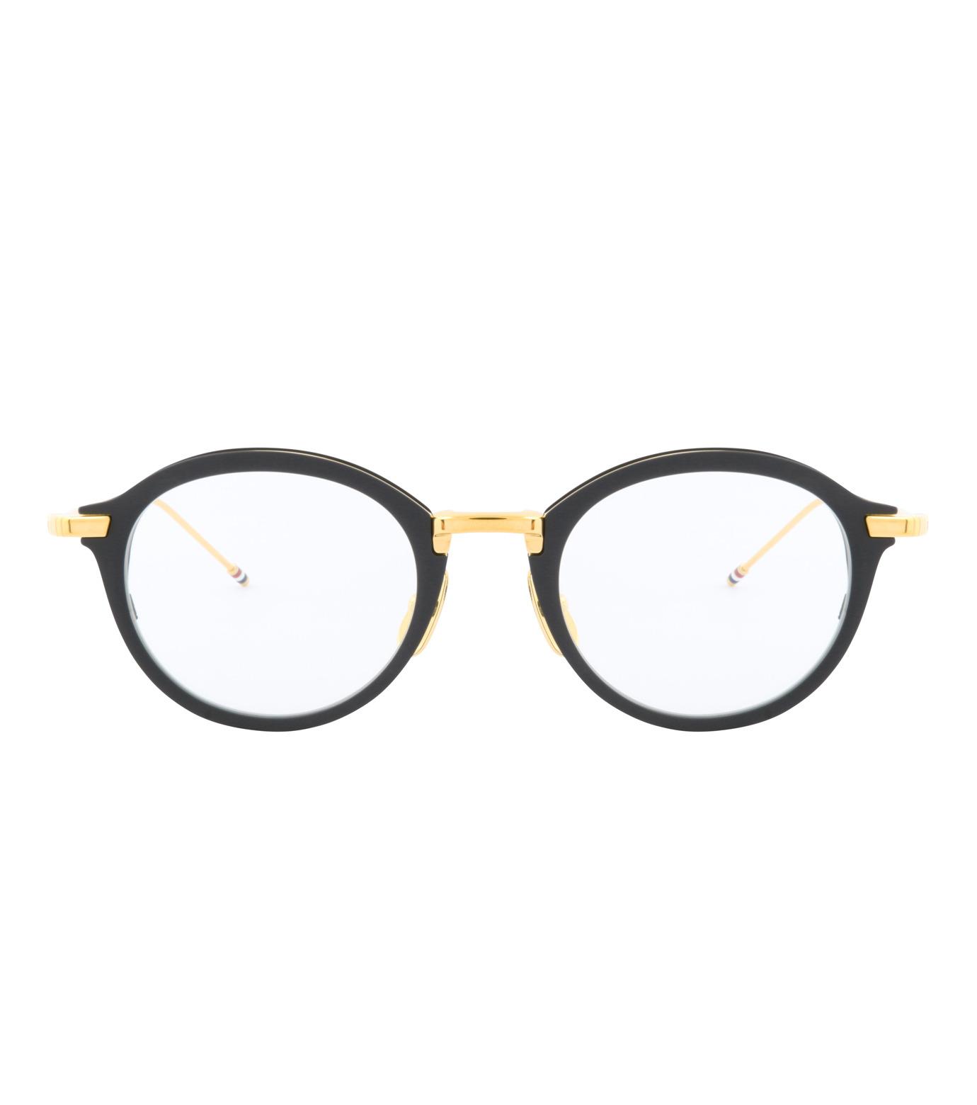 Thom Browne Eye Wear(トム・ブラウン・アイウェア)のRound Clear Lens-BLACK(アイウェア/eyewear)-TB-110-A-13 拡大詳細画像3