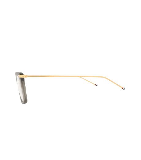 Thom Browne Eye Wear(トム・ブラウン・アイウェア)のWellington Clear Lens-GRAY(アイウェア/eyewear)-TB-701-G-11 詳細画像2