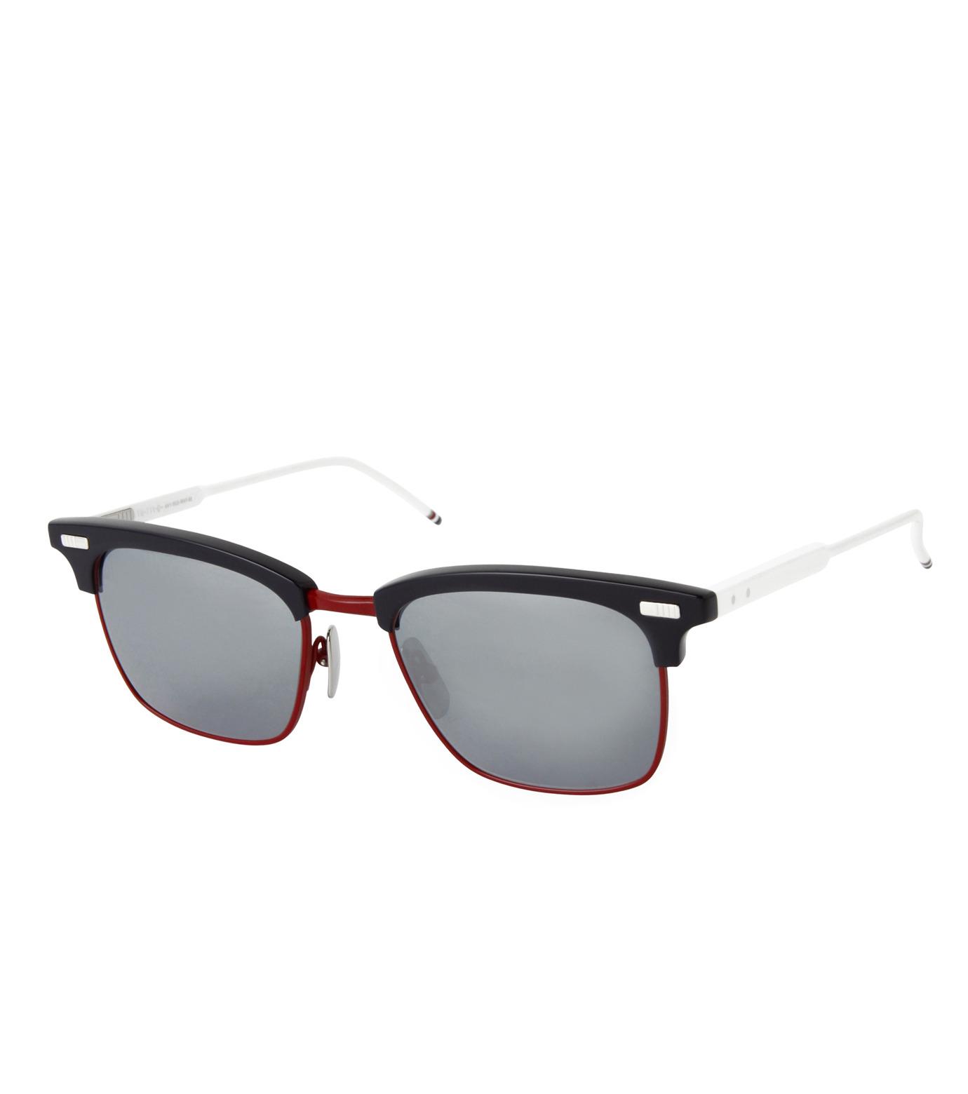 Thom Browne Eye Wear(トム・ブラウン・アイウェア)のtricolore wellington-NAVY(アイウェア/eyewear)-TB-711-D-93 拡大詳細画像1