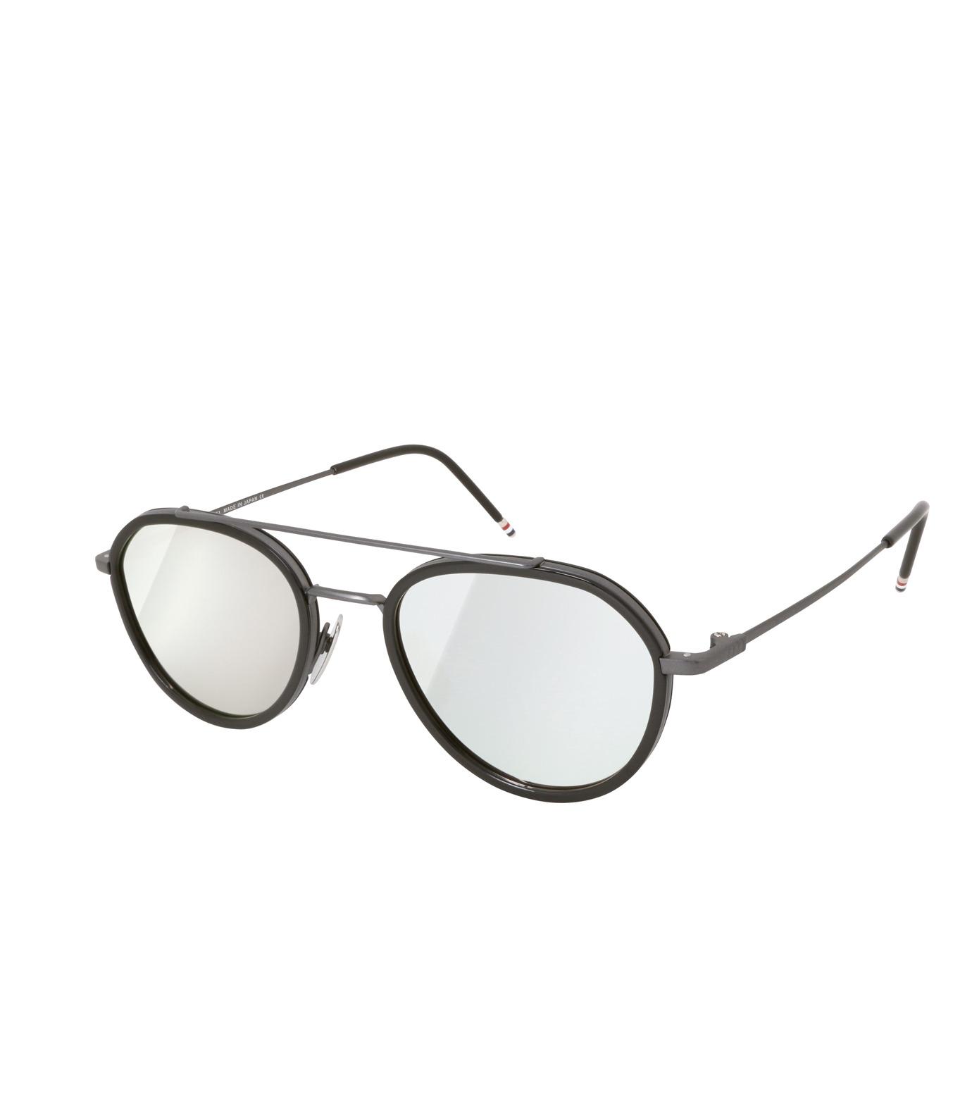 Thom Browne Eye Wear(トム・ブラウン・アイウェア)のMirror Lens Teardrop-BLACK(アイウェア/eyewear)-TB-801-F-13 拡大詳細画像1