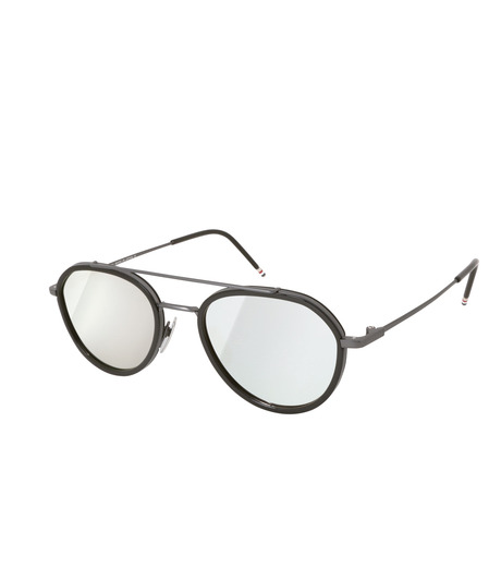 Thom Browne Eye Wear(トム・ブラウン・アイウェア)のMirror Lens Teardrop-BLACK(アイウェア/eyewear)-TB-801-F-13 詳細画像1