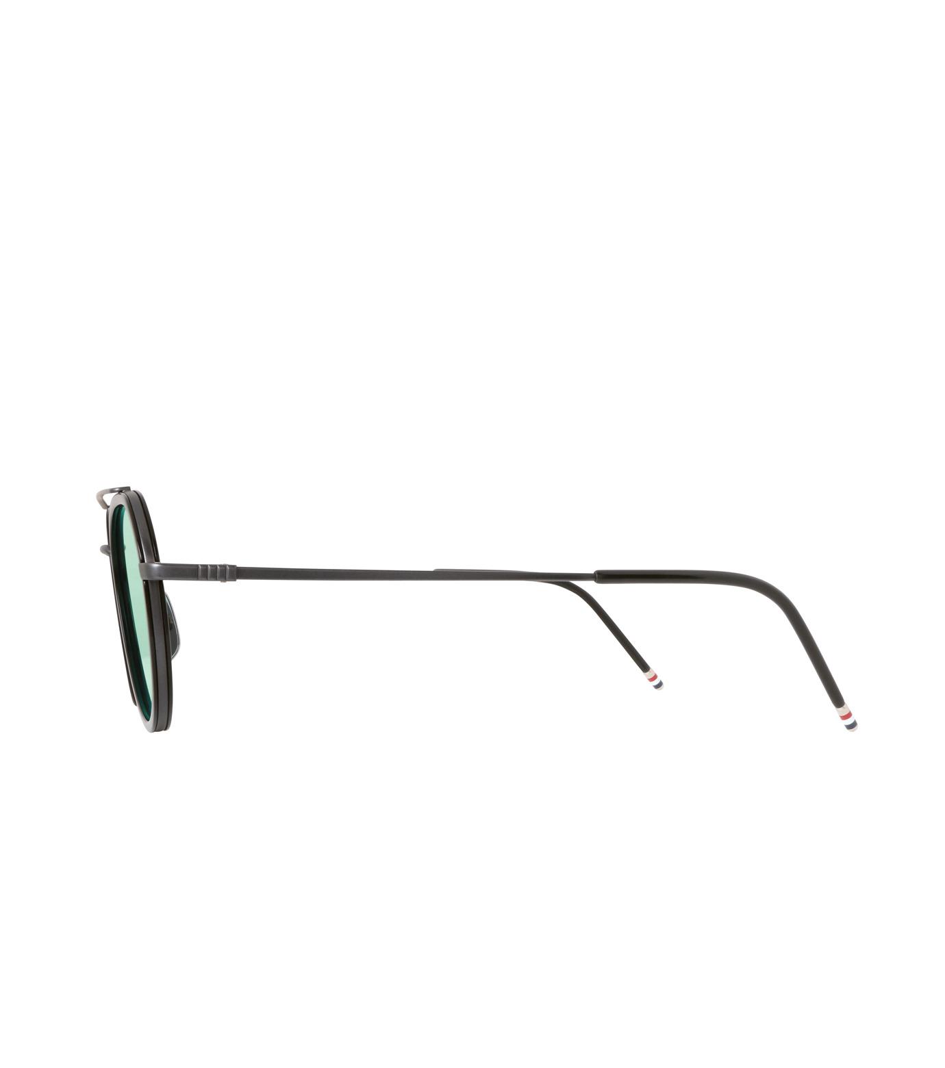 Thom Browne Eye Wear(トム・ブラウン・アイウェア)のMirror Lens Teardrop-BLACK(アイウェア/eyewear)-TB-801-F-13 拡大詳細画像2