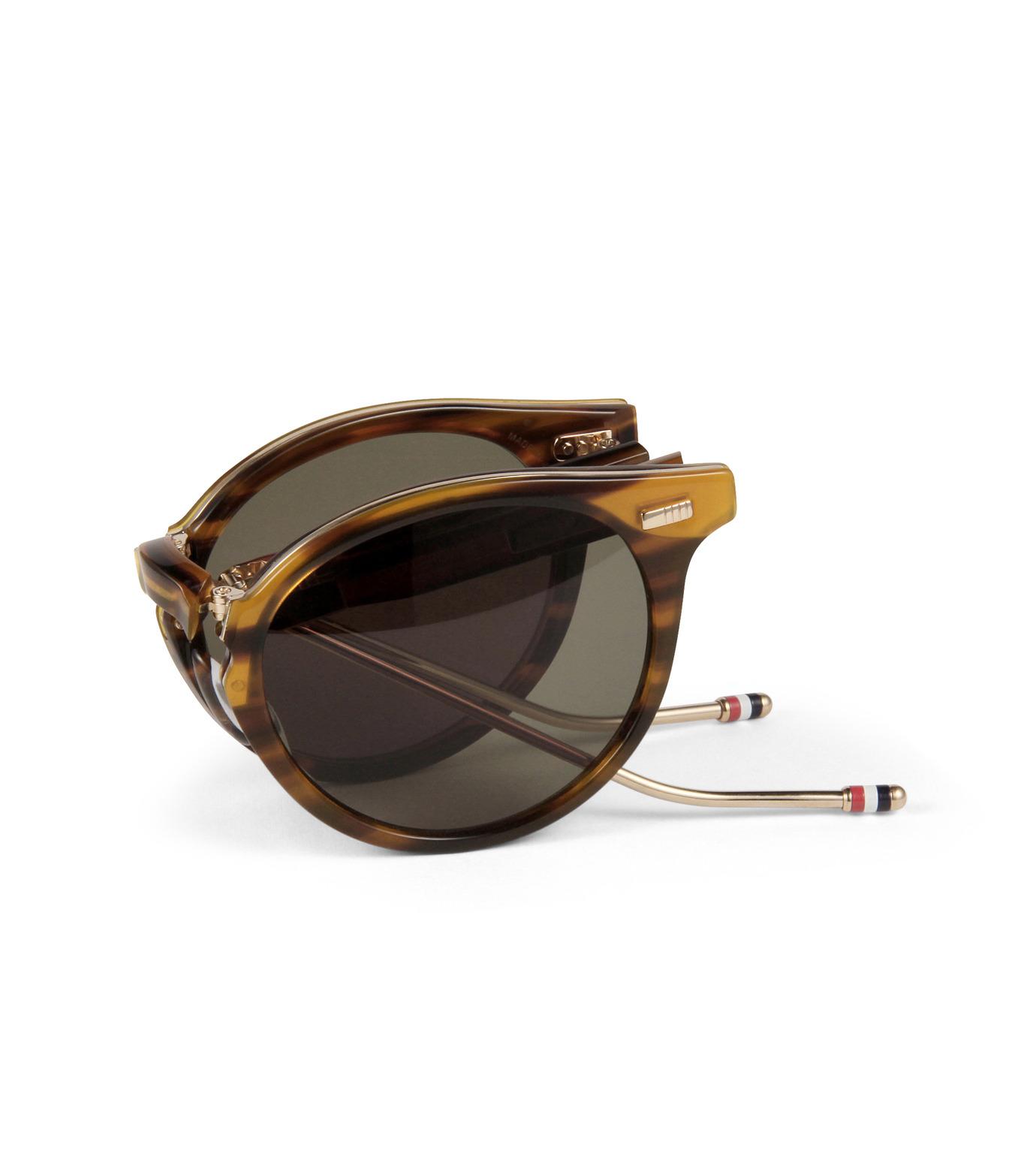 Thom Browne Eye Wear(トム・ブラウン・アイウェア)のFolding Roundframe-YELLOW(アイウェア/eyewear)-TB-806-B-32 拡大詳細画像4