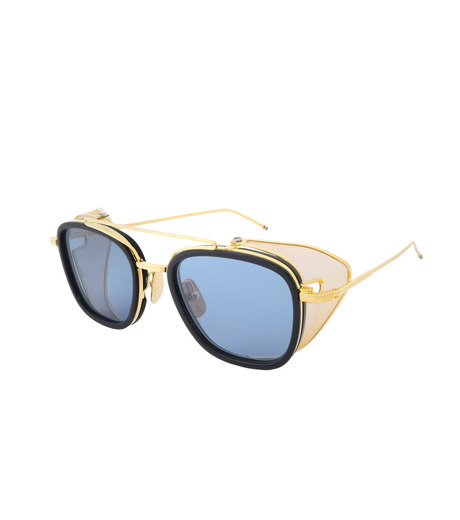 Thom Browne Eye Wear(トム・ブラウン・アイウェア)のSidemesh Sunglass-NAVY(アイウェア/eyewear)-TB-808-C-93 詳細画像1