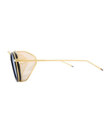 Thom Browne Eye Wear(トム・ブラウン・アイウェア)のSidemesh Sunglass-NAVY(アイウェア/eyewear)-TB-808-C-93 詳細画像2