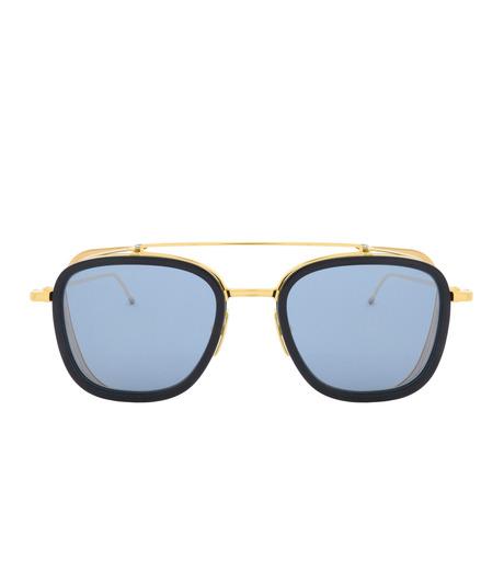 Thom Browne Eye Wear(トム・ブラウン・アイウェア)のSidemesh Sunglass-NAVY(アイウェア/eyewear)-TB-808-C-93 詳細画像3
