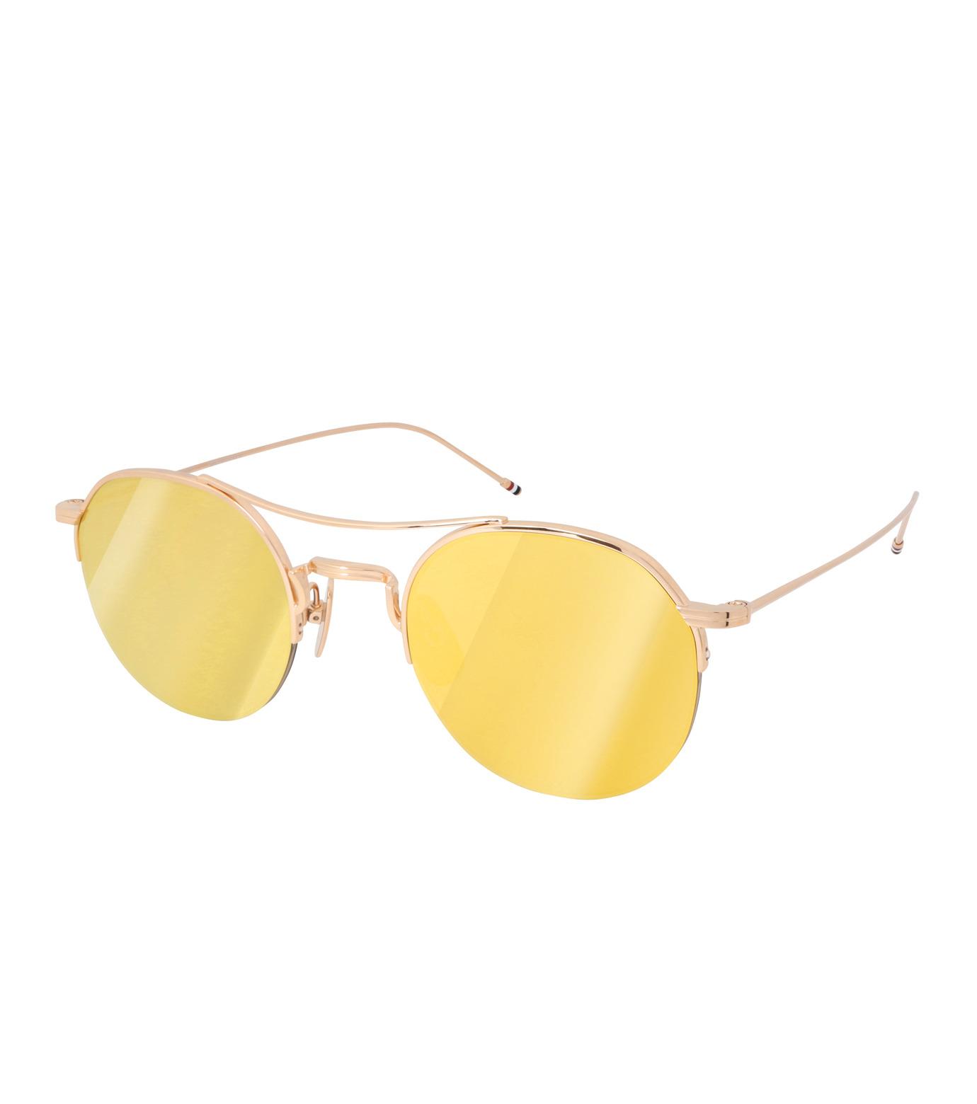 Thom Browne Eye Wear(トム・ブラウン・アイウェア)のTeardrop Gold Lens-GOLD(アイウェア/eyewear)-TB-903-A-T-2 拡大詳細画像1