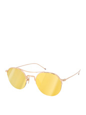 Thom Browne Eye Wear Teardrop Gold Lens