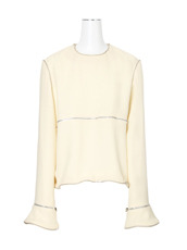 J.W.Anderson LS Top w/Curved Zip Detail