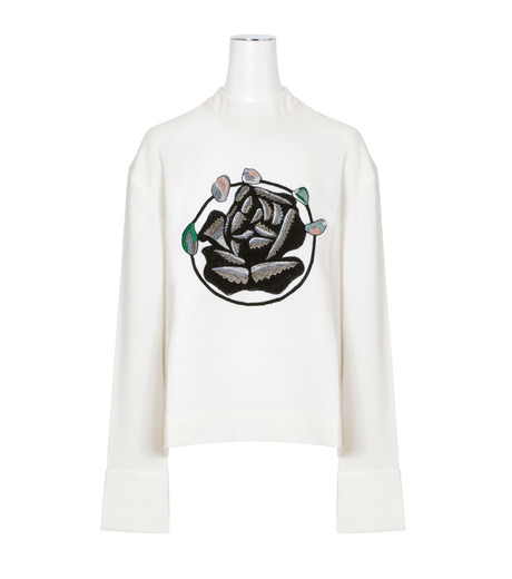 J.W.Anderson(ジェイダブリュー アンダーソン)のTop w/Floral Embroidery-WHITE(トップス/tops)-TP38-4 詳細画像1