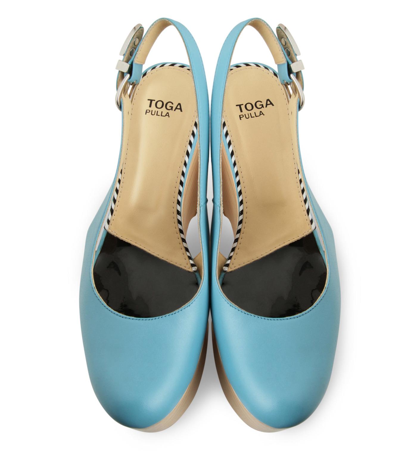 Toga(トーガ)のWood Sole Wedge Pump-LIGHT BLUE(パンプス/pumps)-TP51-AJ688-91 拡大詳細画像4