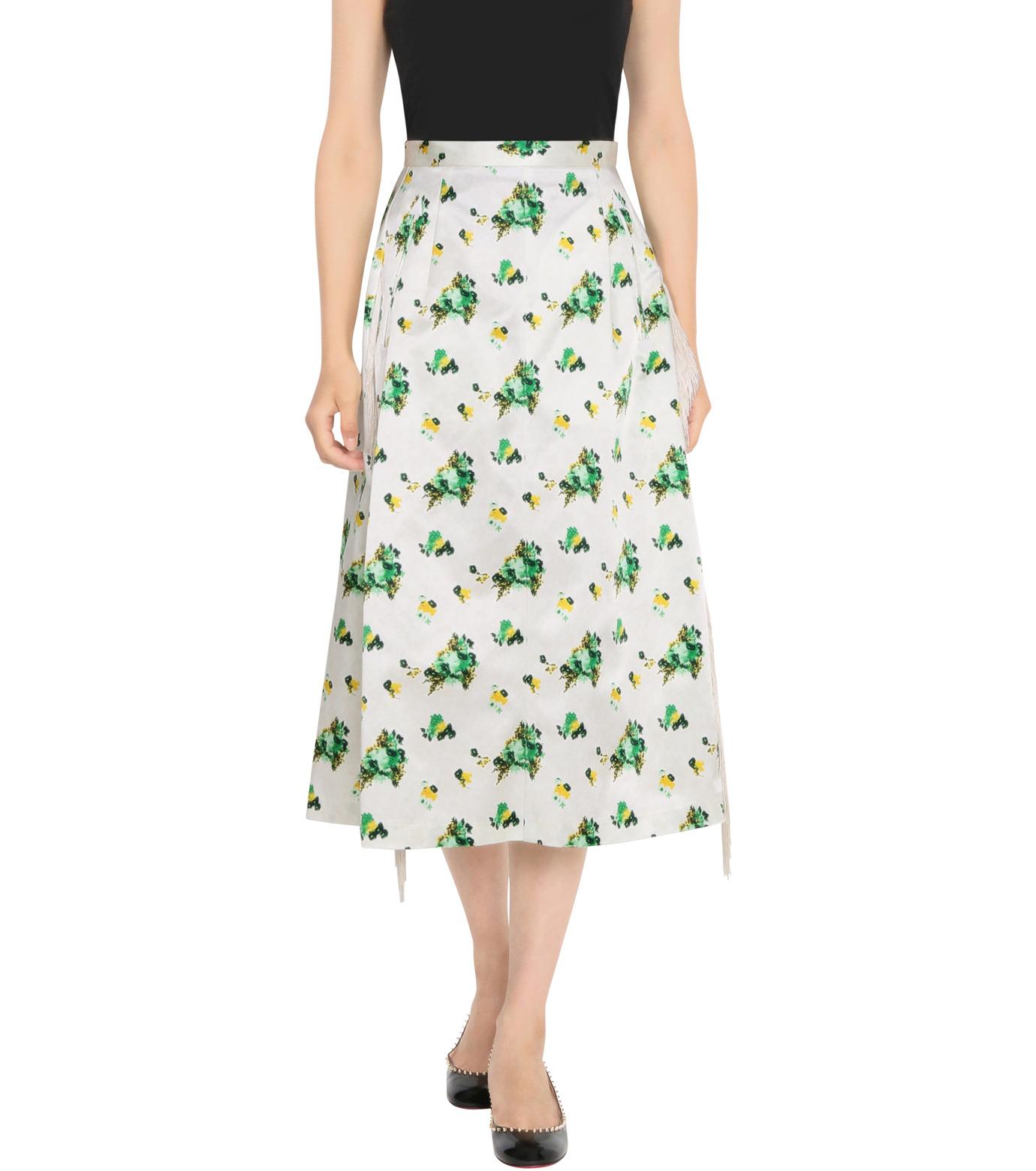 Toga Pulla(トーガ プルラ)のFlower Print Skirt-WHITE(スカート/skirt)-TP62-FG228-4 拡大詳細画像1