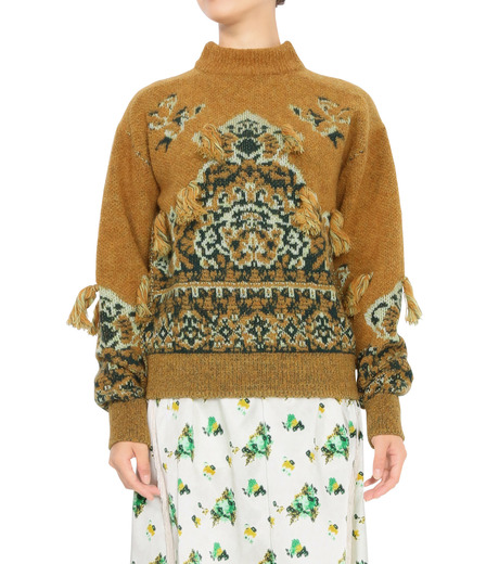 Toga Pulla(トーガ プルラ)のRug Jacquard Pullover-MUSTARD(ニット/knit)-TP62-XN201-33 詳細画像1