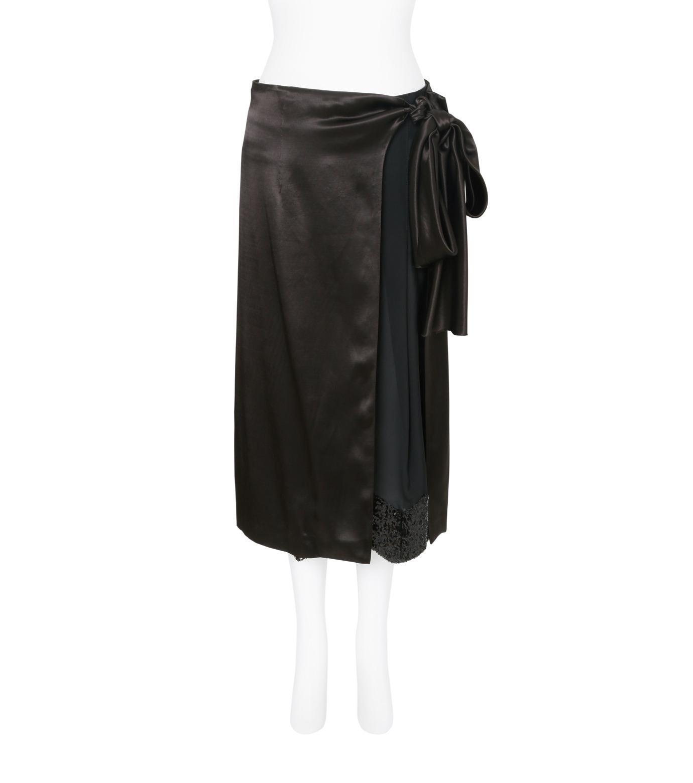 Toga Pulla(トーガ プルラ)のRayon Satin Skirt w/Sequin-BLACK(スカート/skirt)-TP71-FG238-13 拡大詳細画像1