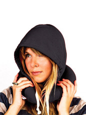 Thumbs Up(サムズアップ) Travel Hooded Pillow -Black