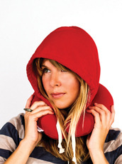Thumbs Up(サムズアップ) Travel Hooded Pillow -Red