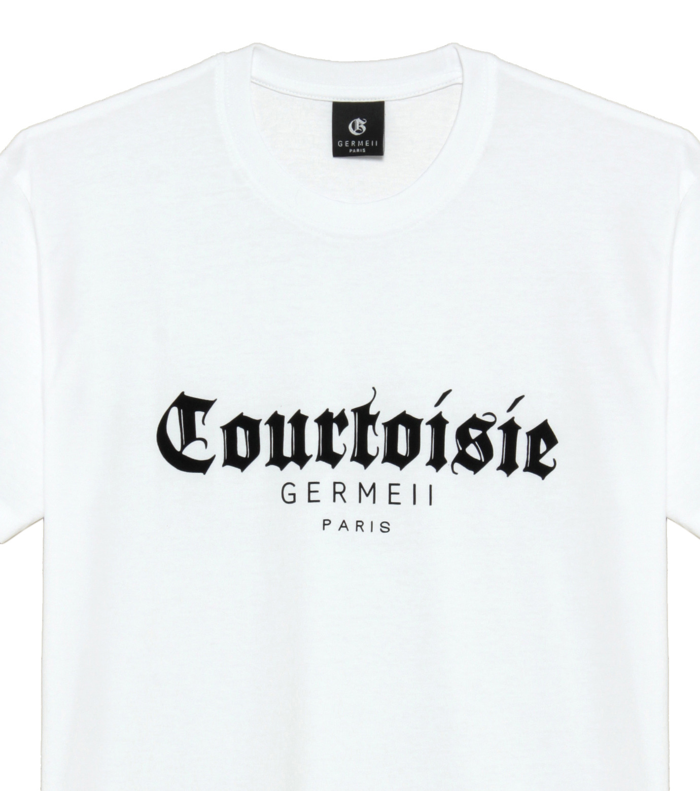 Germeii(ジェルメイ)のCourtoisie Tee-WHITE(トップス/tops)-TS017SS14-4 拡大詳細画像3