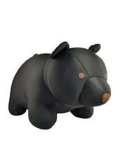 Kikker Land Black Bear zip& flip travel pillow