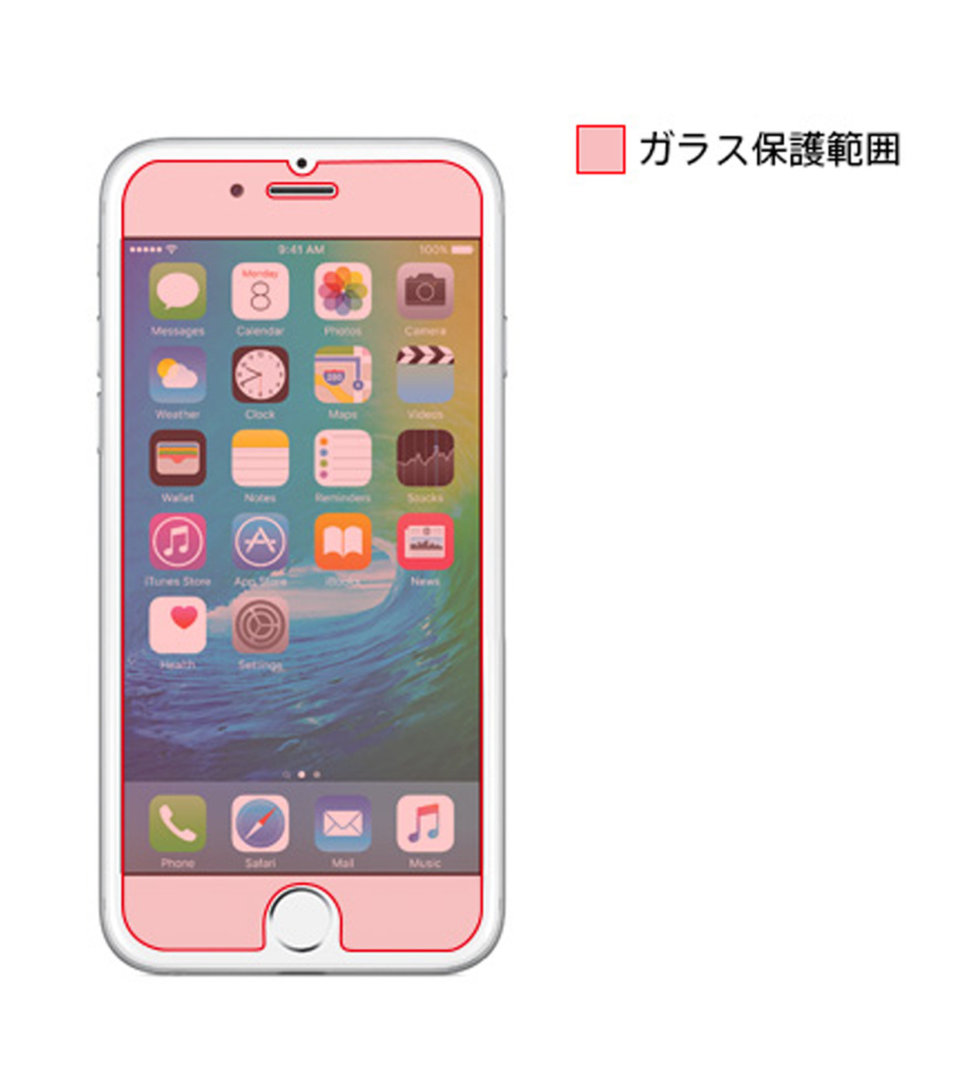 Tunewear(チューンウエア)のTUNEGLAZZ6plus/6splus-NONE(ケースiphone6plus/6splus/case iphone6plus/6splus)-TUN-PH-0441-0 拡大詳細画像3