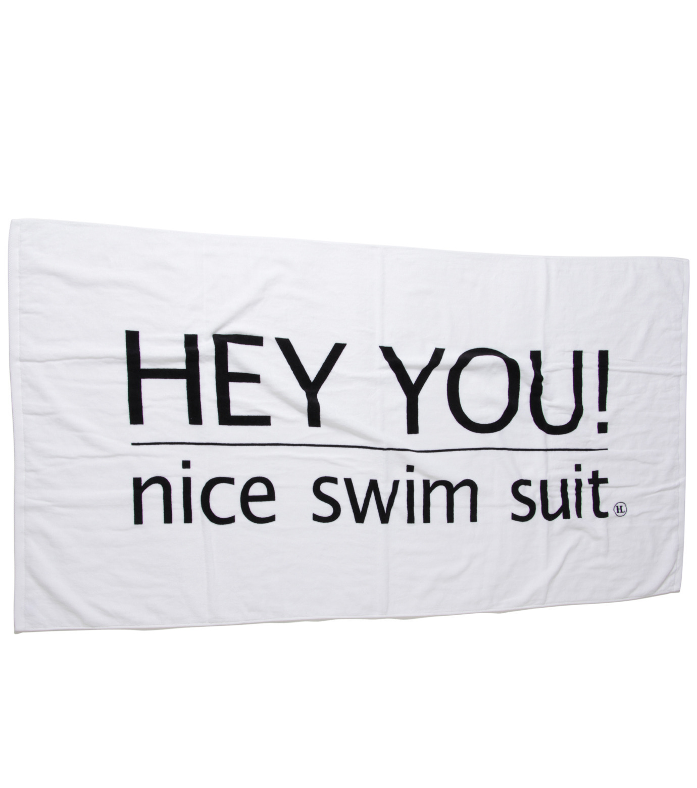 HEY YOU !(ヘイユウ)のBeach Towel with Pouch-WHITE(アザーズ/others)-Towel-02 拡大詳細画像1