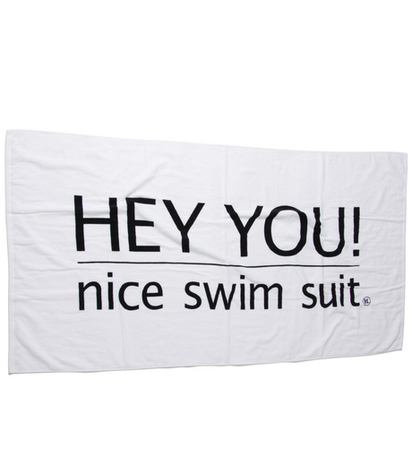 HEY YOU !(ヘイユウ)のBeach Towel with Pouch-WHITE(アザーズ/others)-Towel-02 詳細画像1
