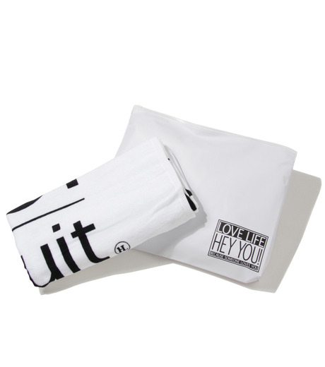 HEY YOU !(ヘイユウ)のBeach Towel with Pouch-WHITE(アザーズ/others)-Towel-02 詳細画像2