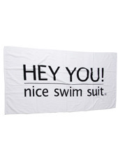 HEY YOU ! Beach Towel with Pouch