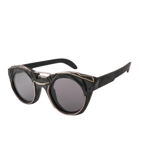 KUBORAUM()のRound Lens-BLACK(アイウェア/eyewear)-U6-BT-RX-13 詳細画像1