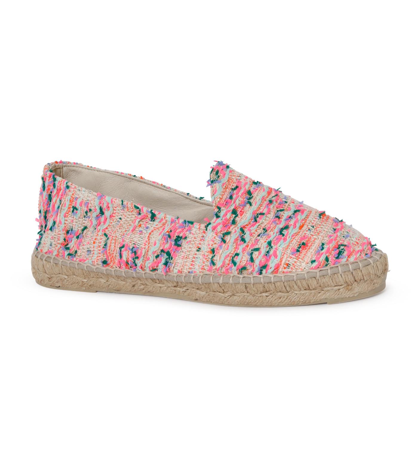 Manebi(マネビ)のneon tweed slippers-NEON PINK(シューズ/shoes)-V-4-3-N-70 拡大詳細画像1