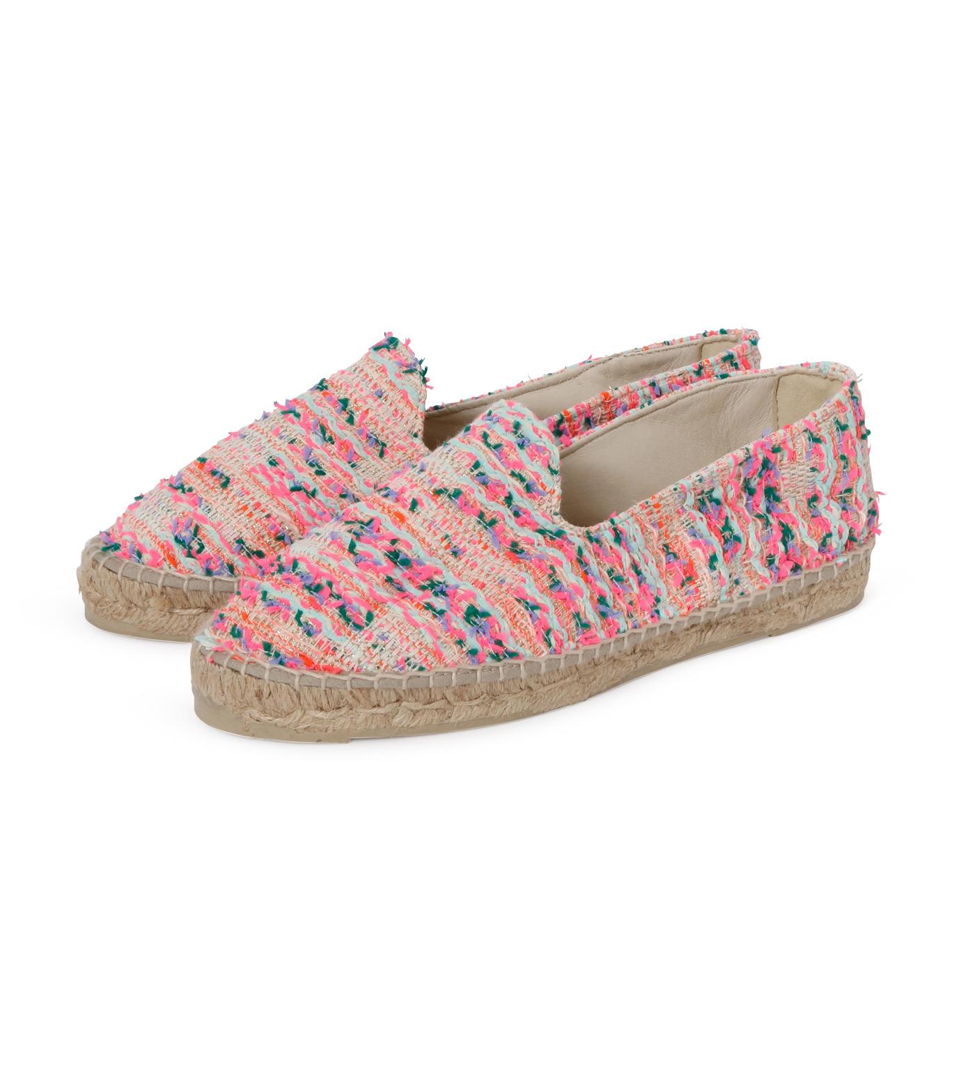 Manebi(マネビ)のneon tweed slippers-NEON PINK(シューズ/shoes)-V-4-3-N-70 拡大詳細画像2