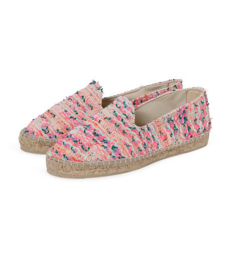 Manebi(マネビ)のneon tweed slippers-NEON PINK(シューズ/shoes)-V-4-3-N-70 詳細画像2