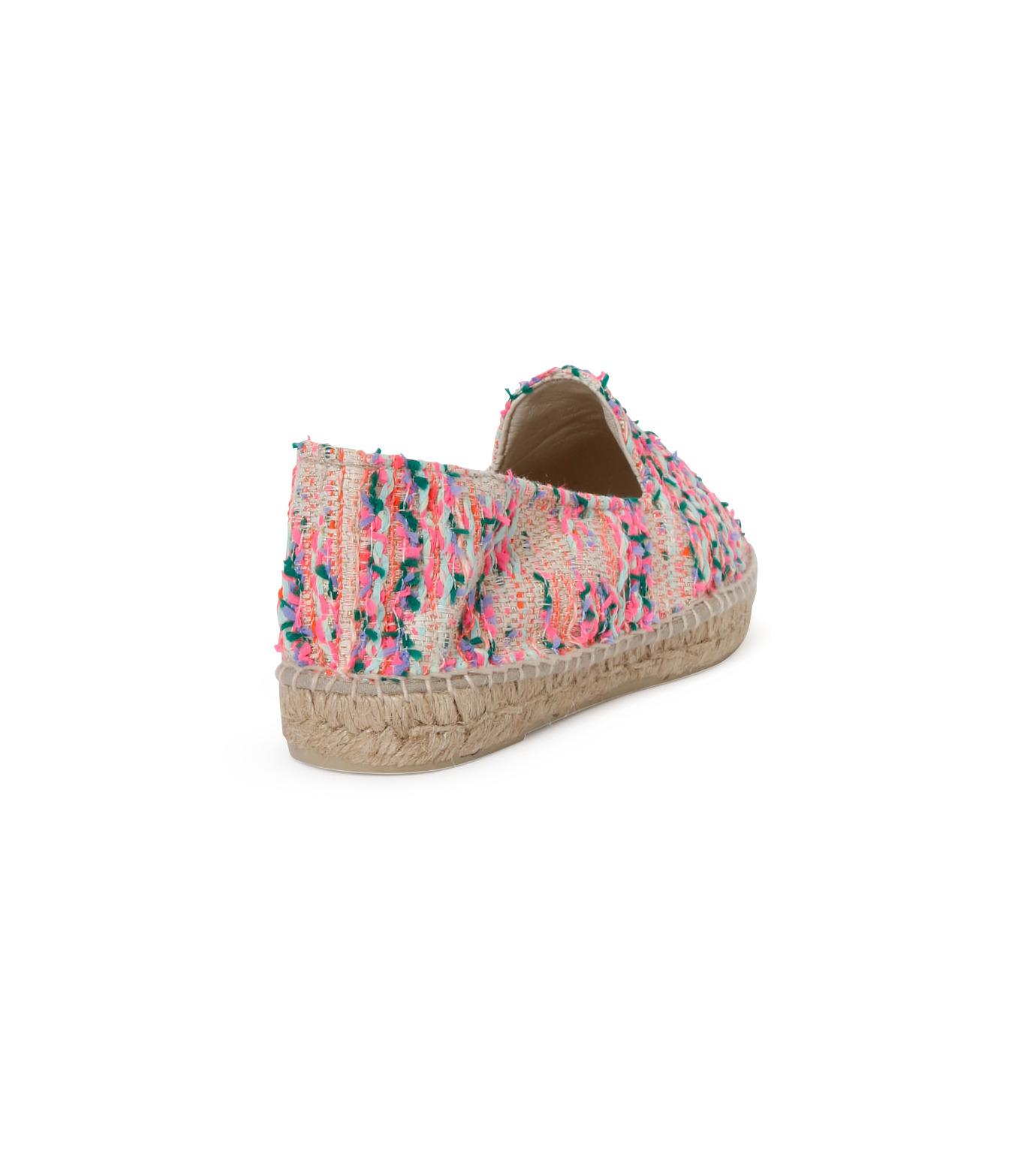 Manebi(マネビ)のneon tweed slippers-NEON PINK(シューズ/shoes)-V-4-3-N-70 拡大詳細画像3