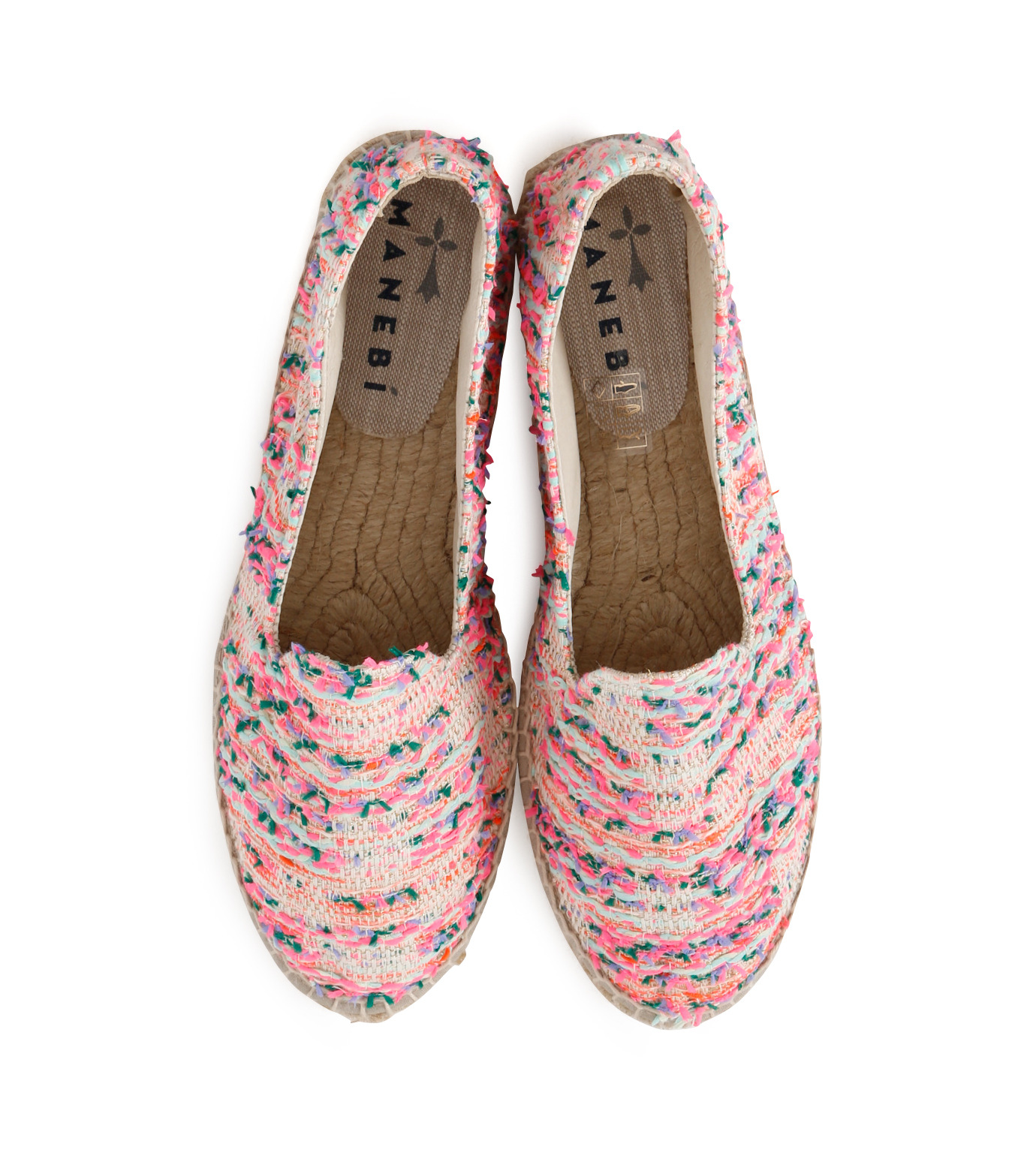Manebi(マネビ)のneon tweed slippers-NEON PINK(シューズ/shoes)-V-4-3-N-70 拡大詳細画像4