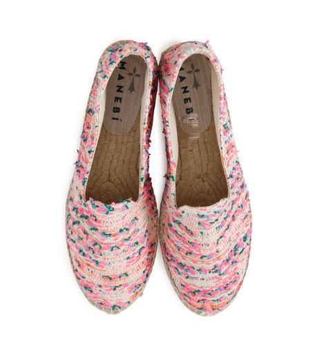 Manebi(マネビ)のneon tweed slippers-NEON PINK(シューズ/shoes)-V-4-3-N-70 詳細画像4