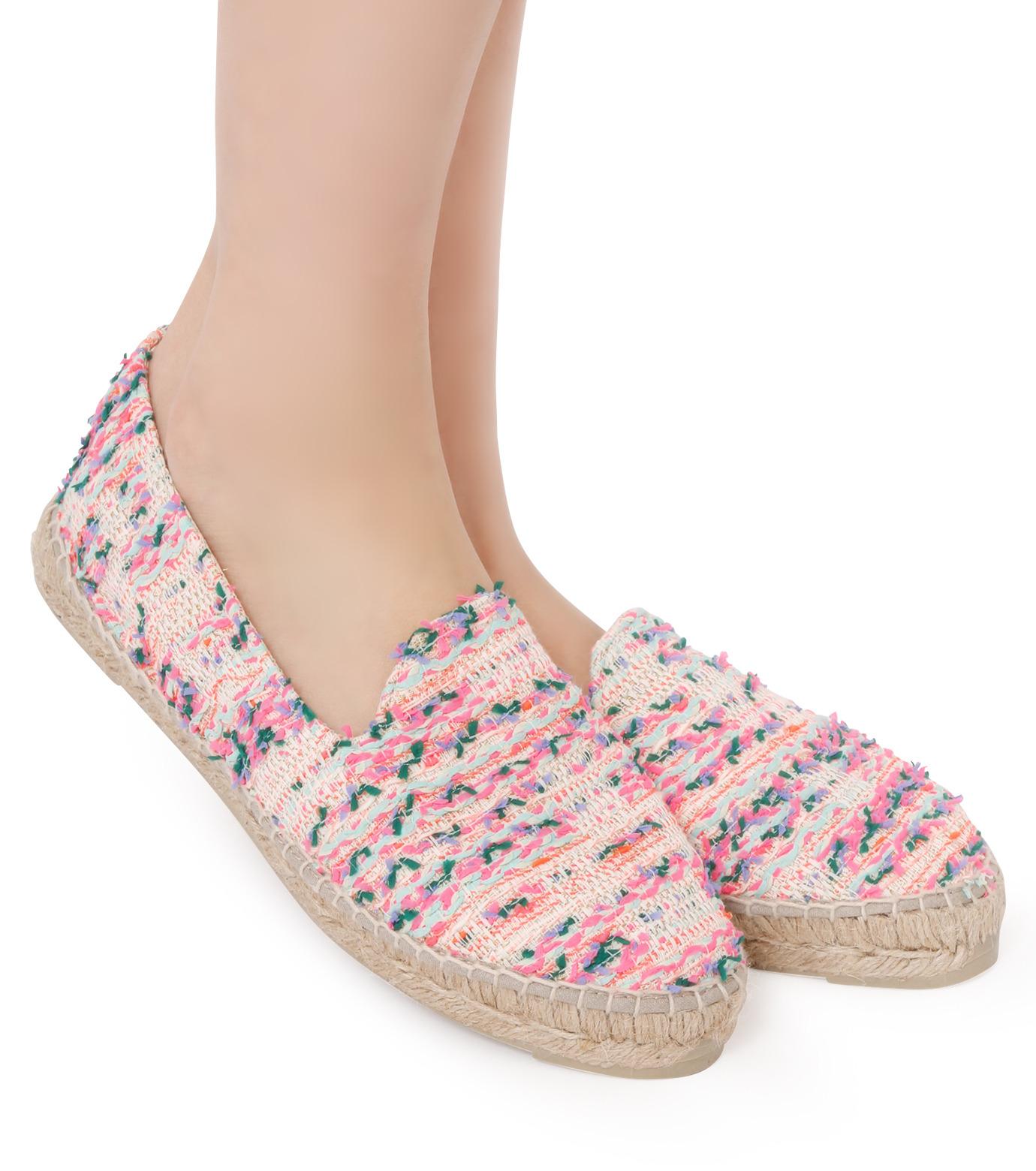 Manebi(マネビ)のneon tweed slippers-NEON PINK(シューズ/shoes)-V-4-3-N-70 拡大詳細画像5