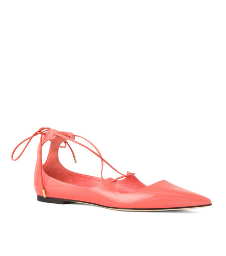 Jimmy Choo(ジミーチュウ)の161Lace Up Flat-LIGHT PINK(フラットシューズ/Flat shoes)-VITAFLAT-PAT-71 詳細画像1