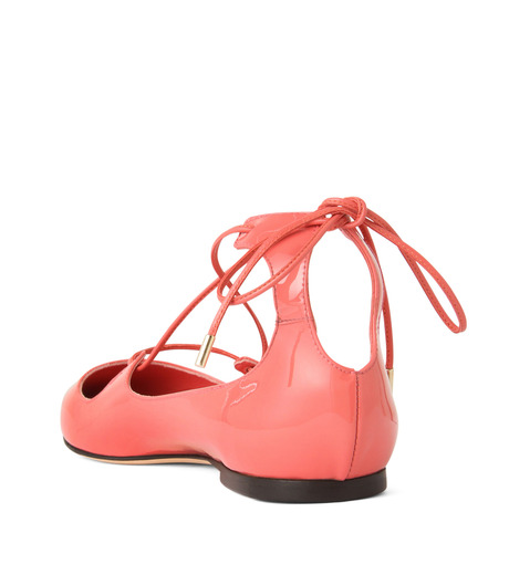 Jimmy Choo(ジミーチュウ)の161Lace Up Flat-LIGHT PINK(フラットシューズ/Flat shoes)-VITAFLAT-PAT-71 詳細画像2