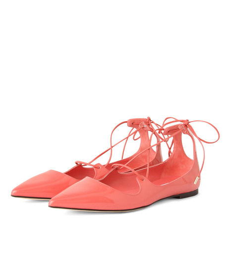 Jimmy Choo(ジミーチュウ)の161Lace Up Flat-LIGHT PINK(フラットシューズ/Flat shoes)-VITAFLAT-PAT-71 詳細画像3