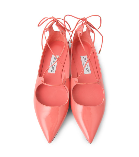 Jimmy Choo(ジミーチュウ)の161Lace Up Flat-LIGHT PINK(フラットシューズ/Flat shoes)-VITAFLAT-PAT-71 詳細画像4