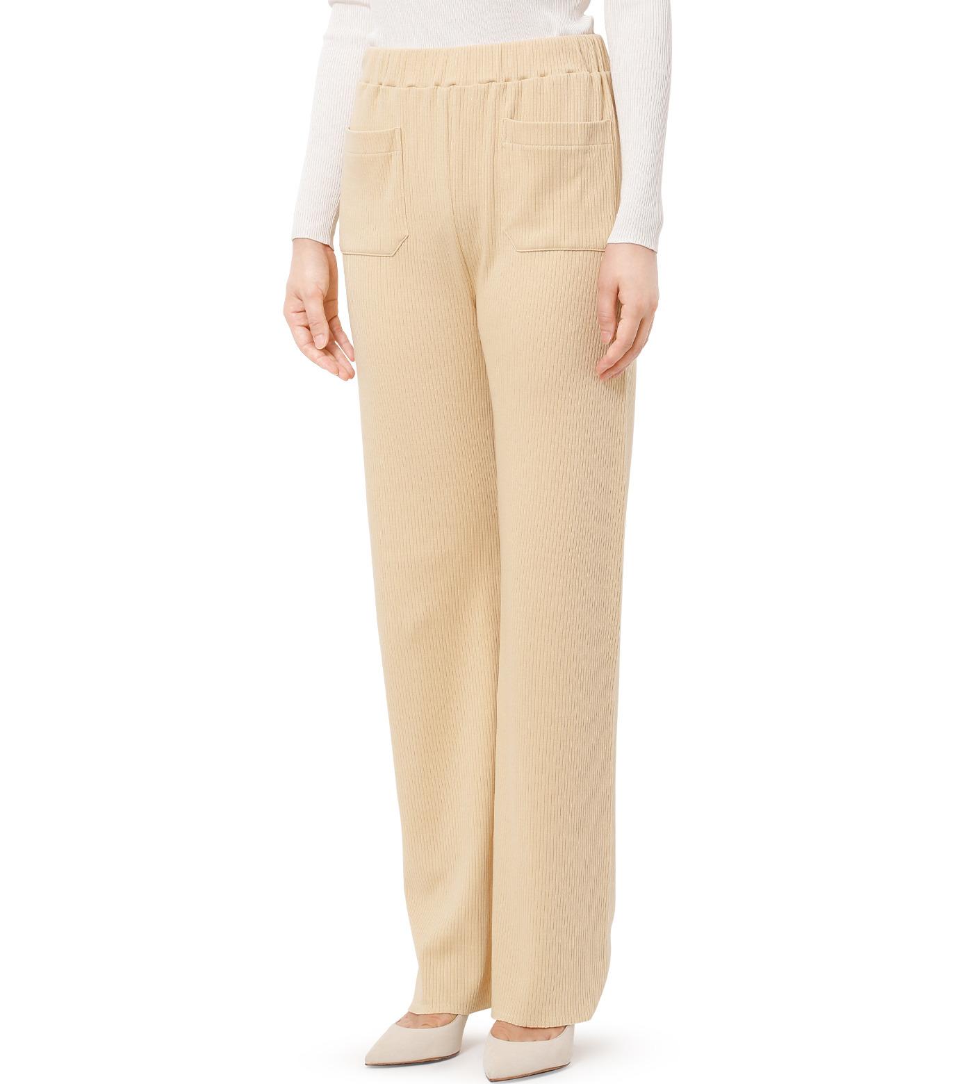 AKANE UTSUNOMIYA(アカネウツノミヤ)のRib Knit Pants-LIGHT BEIGE(パンツ/pants)-W16FCT012001-51 拡大詳細画像1