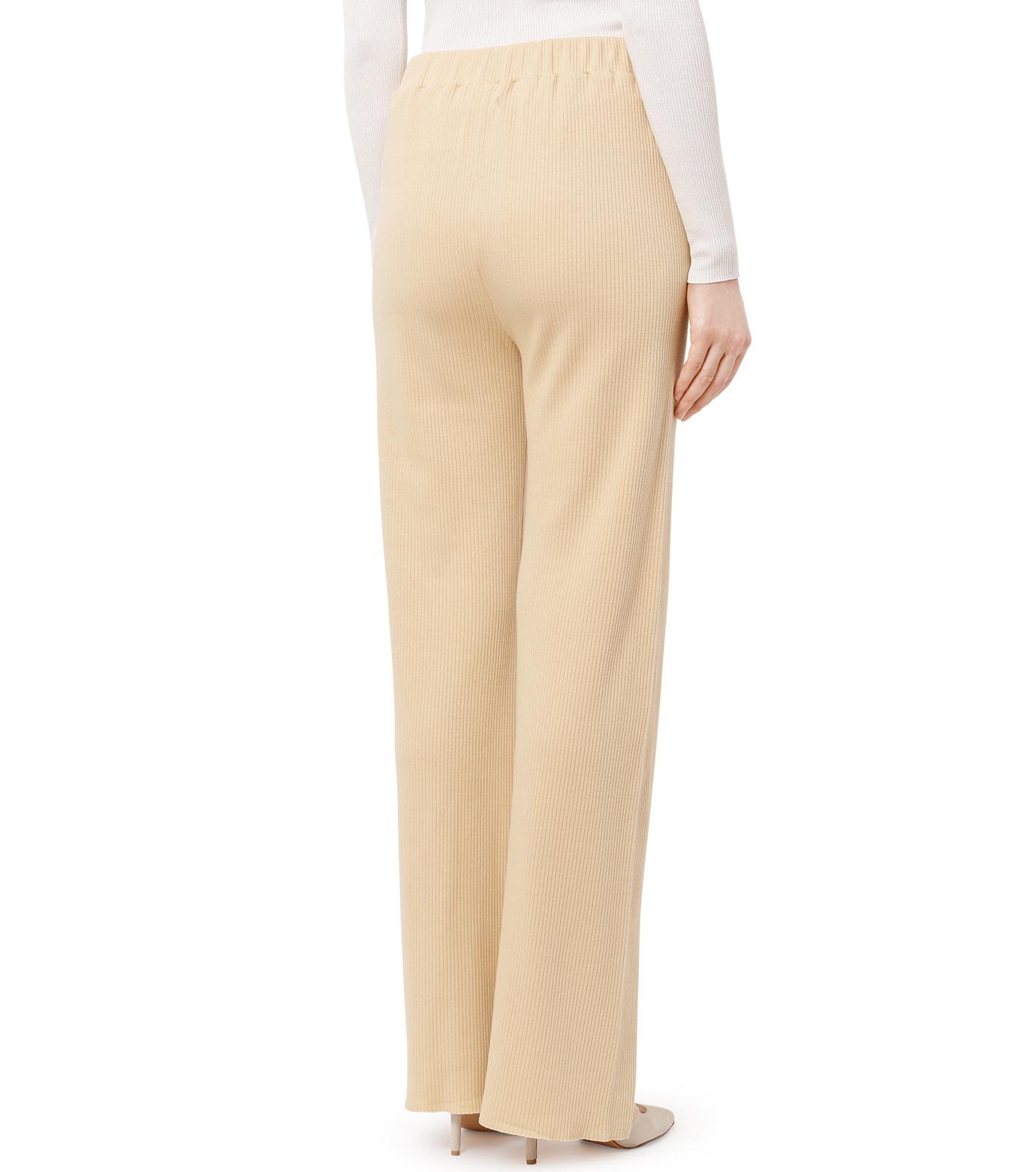 AKANE UTSUNOMIYA(アカネウツノミヤ)のRib Knit Pants-LIGHT BEIGE(パンツ/pants)-W16FCT012001-51 拡大詳細画像2