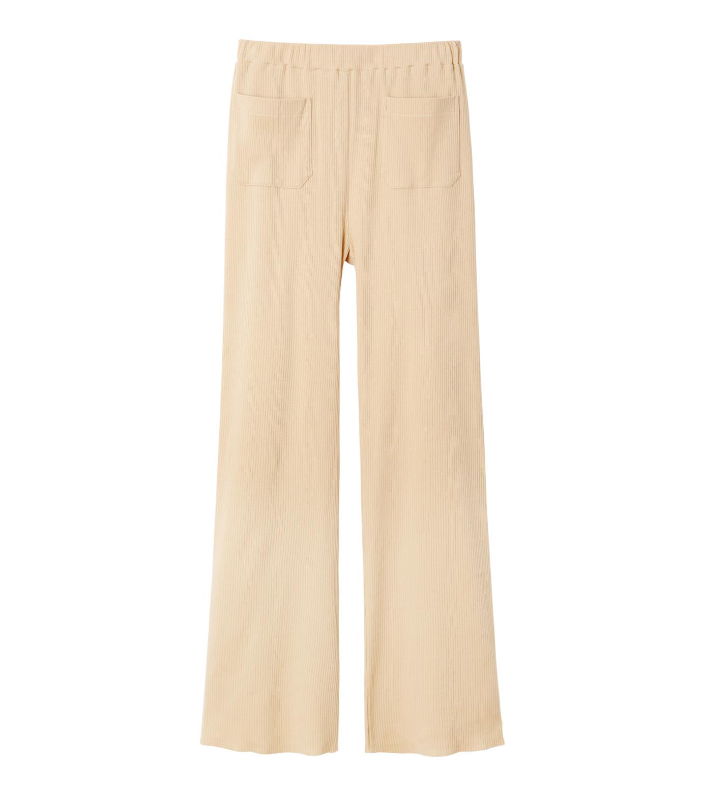 AKANE UTSUNOMIYA(アカネウツノミヤ)のRib Knit Pants-LIGHT BEIGE(パンツ/pants)-W16FCT012001-51 拡大詳細画像4