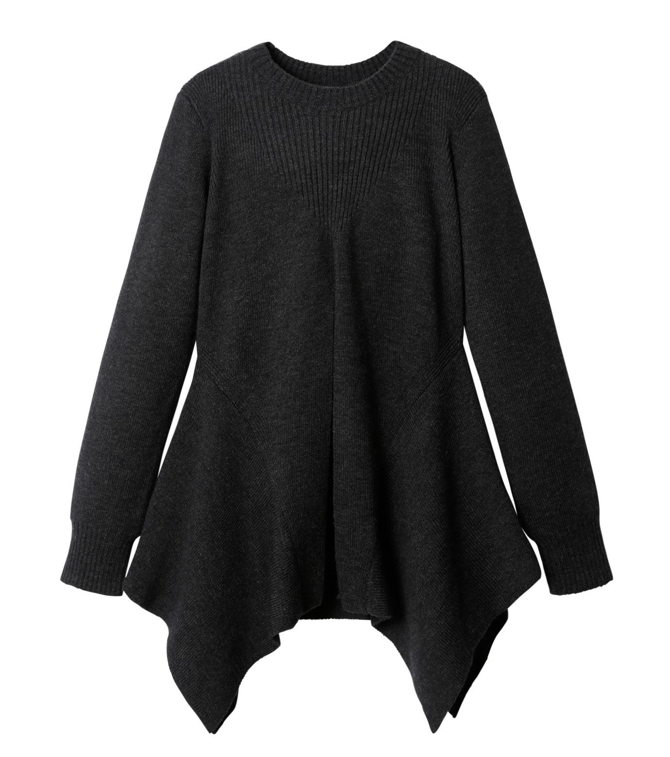 AKANE UTSUNOMIYA(アカネウツノミヤ)のAsymmetry Knit Pullover-BLACK(ニット/knit)-W16FK221010-13 拡大詳細画像1