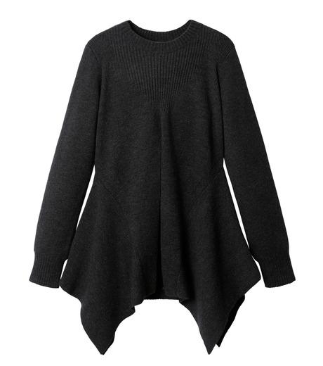 AKANE UTSUNOMIYA(アカネウツノミヤ)のAsymmetry Knit Pullover-BLACK(ニット/knit)-W16FK221010-13 詳細画像1