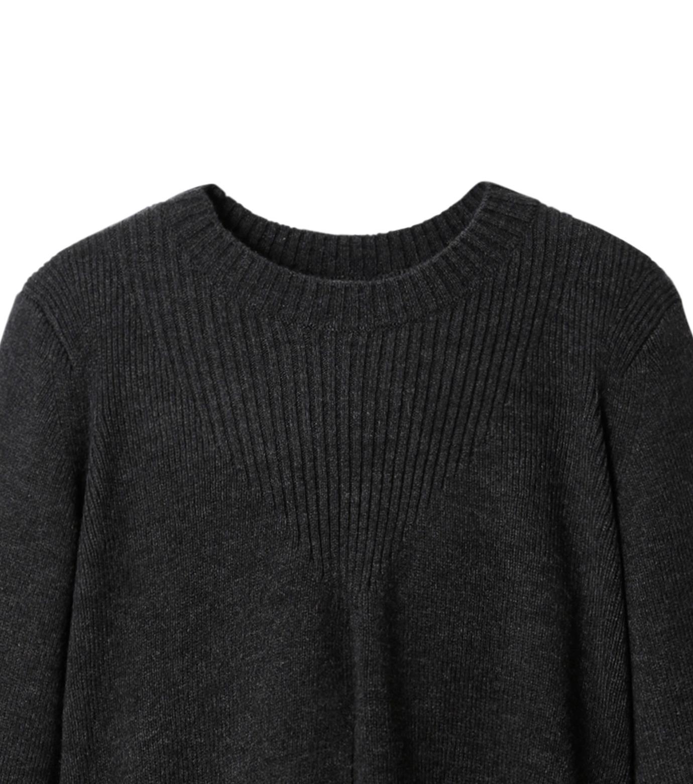 AKANE UTSUNOMIYA(アカネウツノミヤ)のAsymmetry Knit Pullover-BLACK(ニット/knit)-W16FK221010-13 拡大詳細画像2