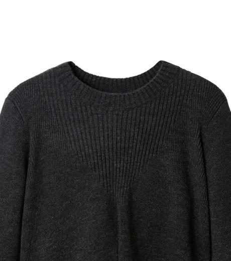 AKANE UTSUNOMIYA(アカネウツノミヤ)のAsymmetry Knit Pullover-BLACK(ニット/knit)-W16FK221010-13 詳細画像2