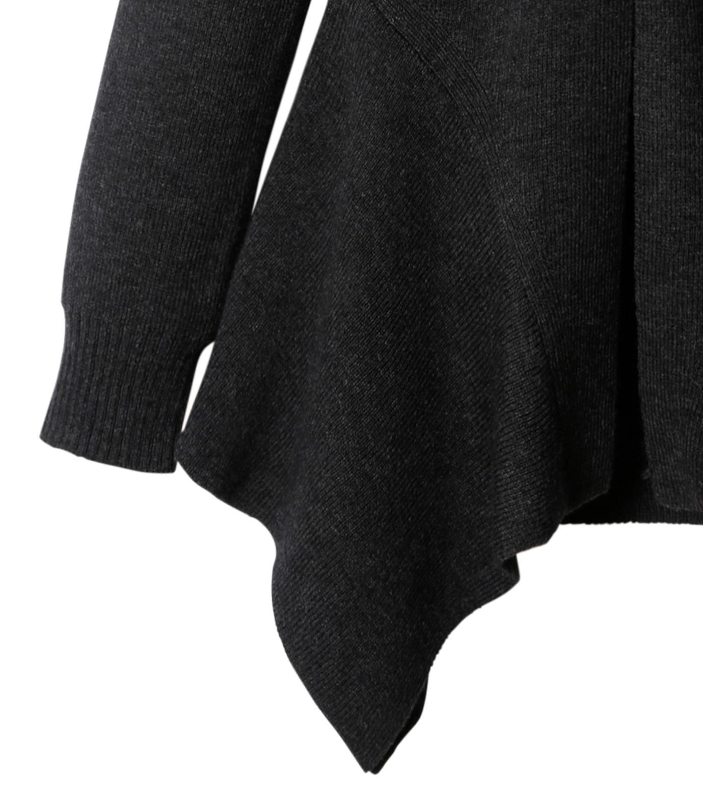 AKANE UTSUNOMIYA(アカネウツノミヤ)のAsymmetry Knit Pullover-BLACK(ニット/knit)-W16FK221010-13 拡大詳細画像3