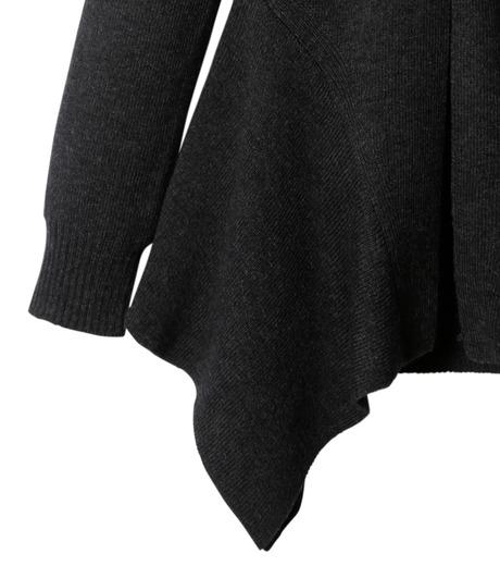 AKANE UTSUNOMIYA(アカネウツノミヤ)のAsymmetry Knit Pullover-BLACK(ニット/knit)-W16FK221010-13 詳細画像3