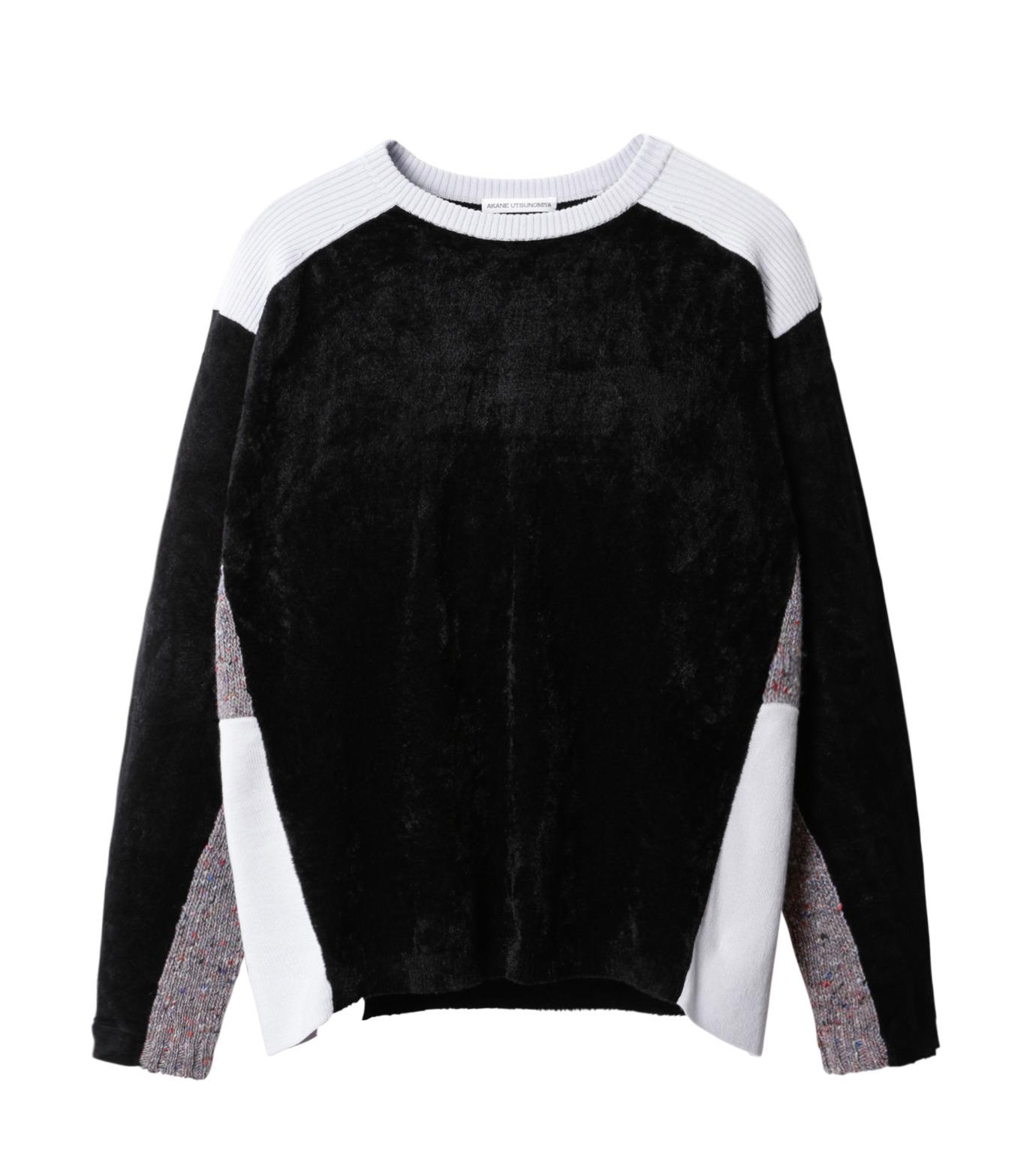 AKANE UTSUNOMIYA(アカネウツノミヤ)のColor Blocked Pullover-BLACK(ニット/knit)-W16FK301013-13 拡大詳細画像1